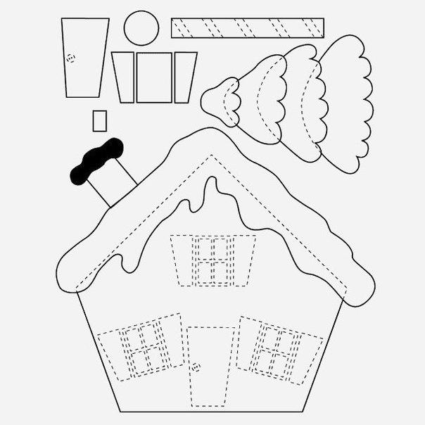 Patrons figurines maison de pain d'épices