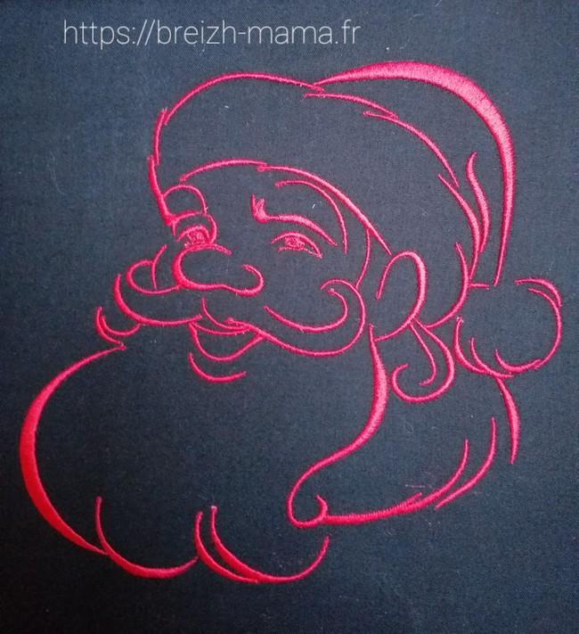 Motif broderie Père Noël