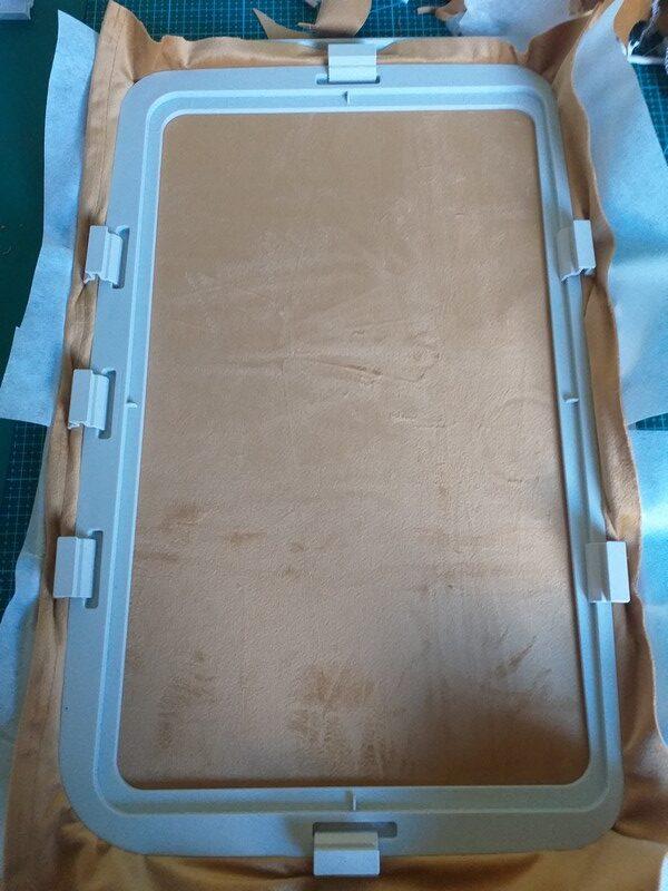 Cercler le stabilisateur et le tissu