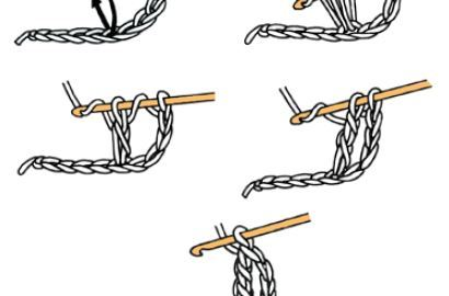 Double bride au crochet