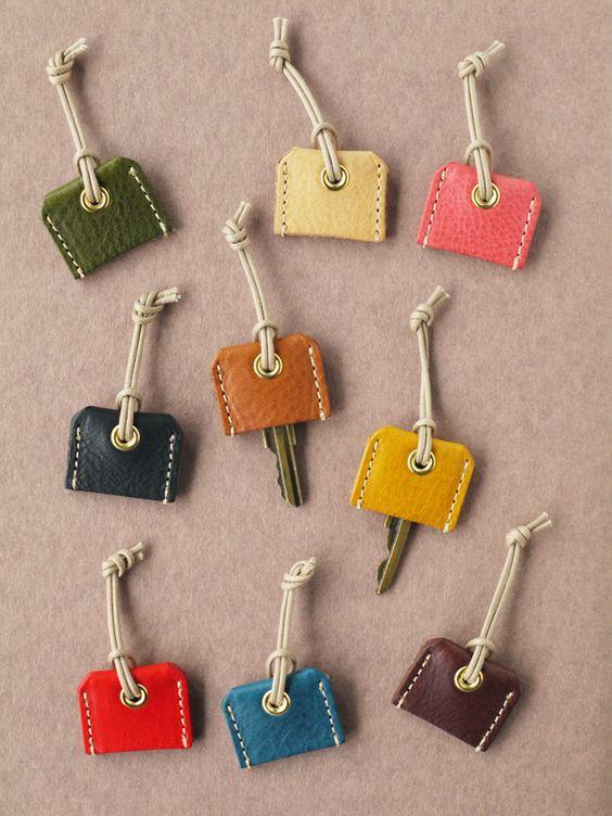Inspiration couture marque clé cuir