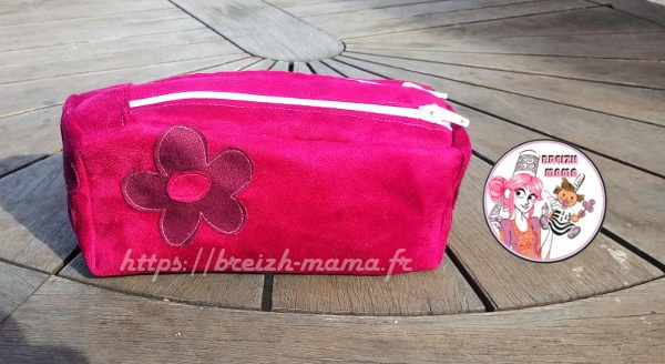 couture trousse double compartiment