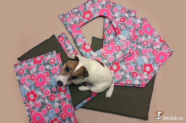 cabane pour chien en tisssu