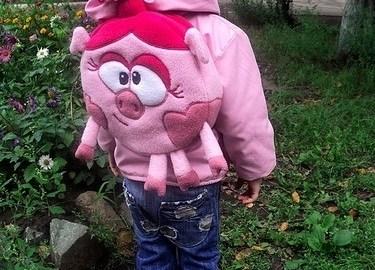 couture sac à dos cochon