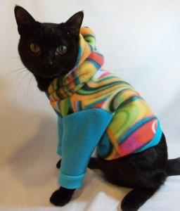 patron couture Sweat à capuche pour chat !