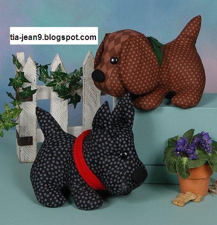 patrons peluche chien