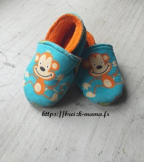 Chaussons tissu bébé