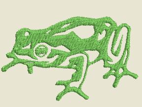 motif broderie gratuit grenouille