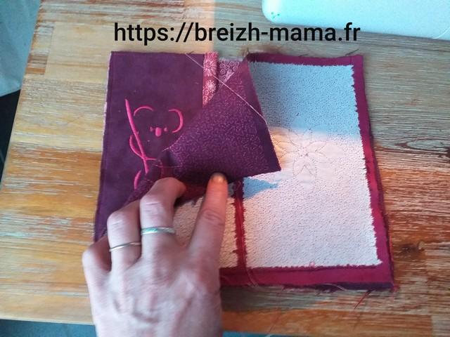 Placer votre tissu extérieur endroit contre endroit