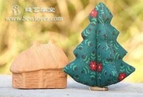 Coudre un Sapin de Noël décoratif de table en tissu