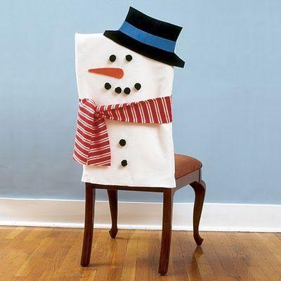 Couvre chaise bonhomme de neige