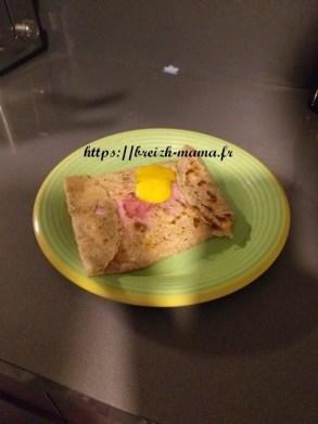 La galette complète à l'andouille de guéméné