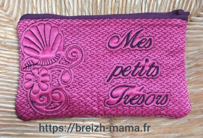 Trousse ITH coquillage recto