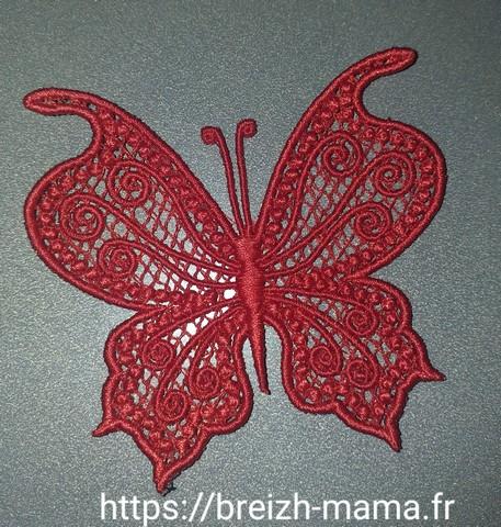 Motif broderie papillon FSL