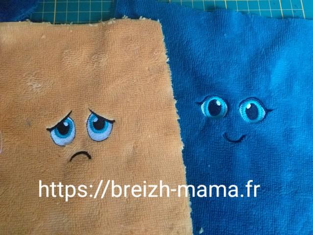 Broderies emotions triste et joyeux