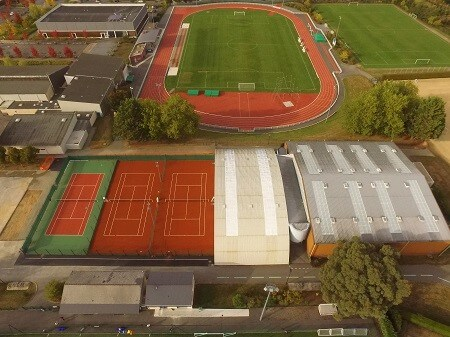 Infrastructures - TC Pacé - Vue du ciel - Breizh Tennis Coaching