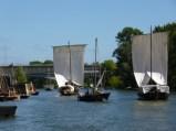 le vent permet aux bateaux de se mesurer en vitesse et adresse