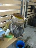 Le jus obtenu est filtré pour être mis en barrique