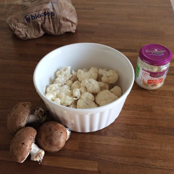 Ingrédients recette bio bébé chou-fleur