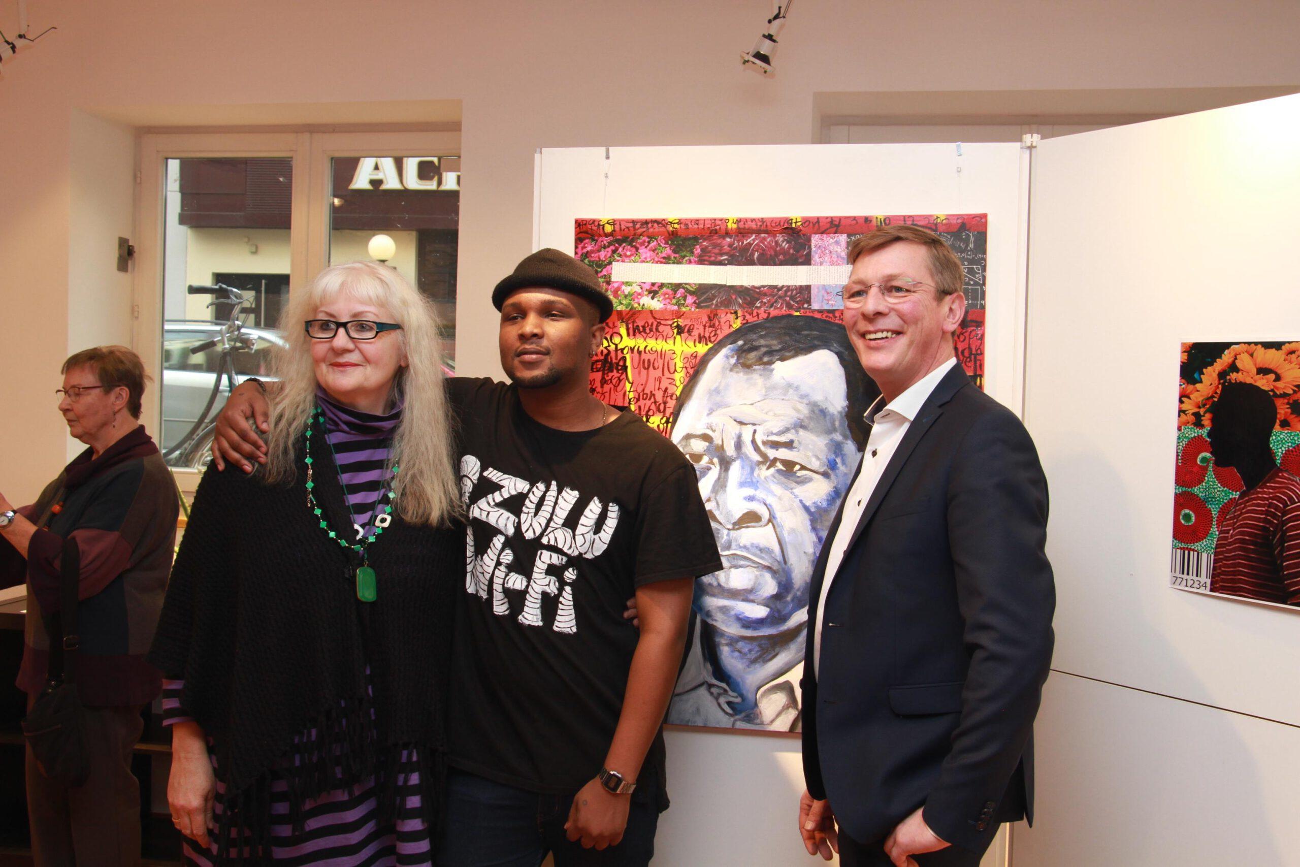 Sphephelo Mnguni 2020 Ausstellung, Edeltraut Rath, Frank Imhoff