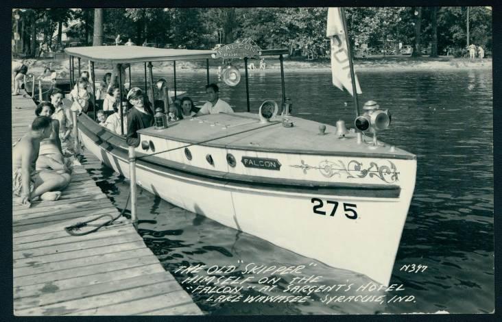 "Jesse Sargent on his ""Falcon"" pleasure boat"