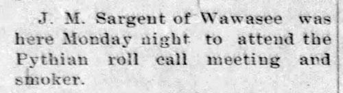 Jesse Sargent - Knights of Pythias - Enquirer - Enquirer - Nov 27, 1913