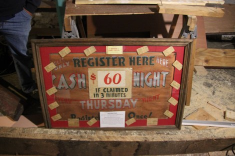 Cash Night sign