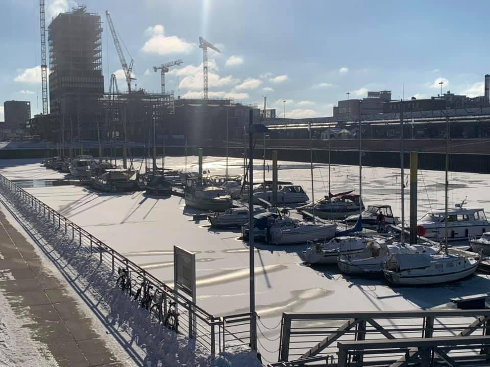 Hafen im Winter - Bremen