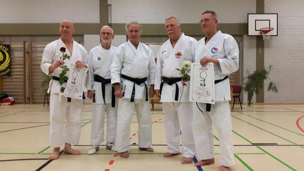 Erfolgreiche Prüfung (v.l.) Ullrich Hillebrandt, Rob Zwartjes, Uwe Hirtreuter, Heinrich Reimer und Manfred Schramm.