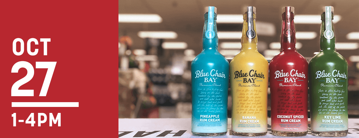 blue chair rum shower vs tub transfer bench bay creams bremers wine and liquor