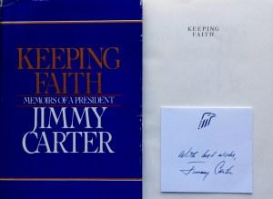 Keeping Faith Jimmy Carter Signature Card