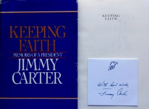 Keeping Faith Jimmy Carter Signature Card