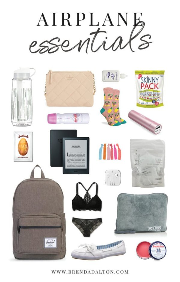 Airplane essentials for the modern woman. What to pack in your carry-on for easy and stylish traveling by air for arthritis and autoimmune disease. Read more from brendadalton.com!