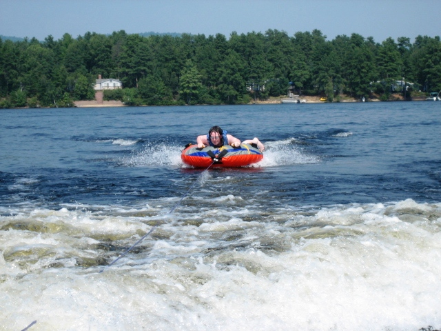"""Andrew has another """"first"""" experience..tubing"""