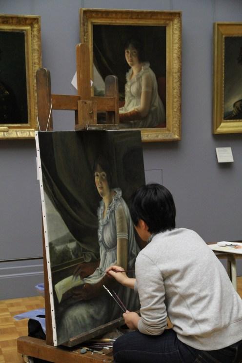 copyist at Louvre 2