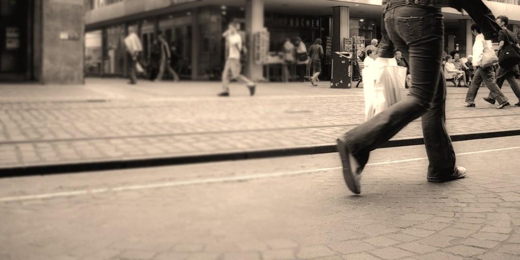 people hurrying