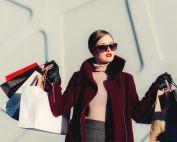 rich woman shopping