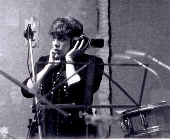 Singer-Songwriter Brenda Layne recording in Wales