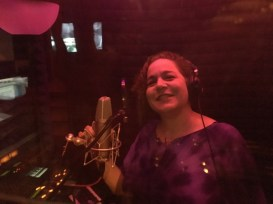 Musical Artist Brenda Layne recording at Artemis Audio in Hawaii