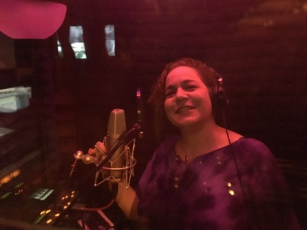Musical Artist Brenda Layne recording at Artemis Audio in Hawaii