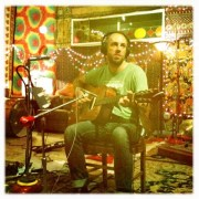 Brett Farkas tracking some acoustic guitars...