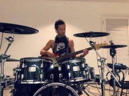 Brendan Buckley plays bass