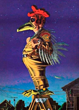 Dick Orkin's Chickenman, opposing crime and/or evil.
