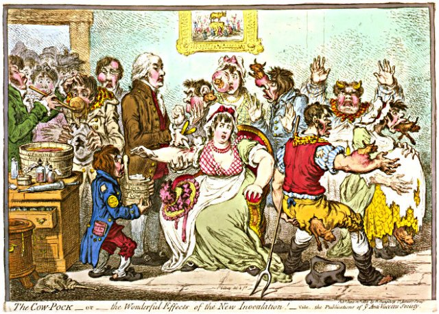 James Gillray's 'The Cow-Pock—or—The Wonderful Effects of the New Inoculation!' (1802)