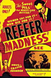 'Reefer Madness' (1936, released 1938-1939) theatrical release poster. (1972)