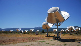 Allen Telescope Array at the Hat Creek Radio Observatory in Shasta County, California, USA.