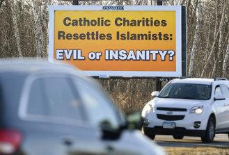 Anti-Catholic Charitis billboard.