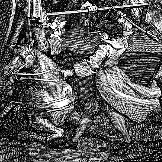 William Hogarth's 'The Second Stage of Cruelty, detail. (1751)