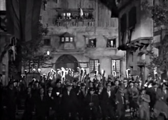 Torch-wielding mob from James Whale's 'Frankenstein.' (1931)