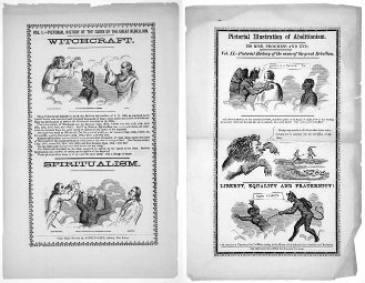 Alfred Gale's 'Pictorial Illustration of the Cause of the Great Rebellion' and 'Pictorial Illustration of Abolitionism.' (ca. 1865)